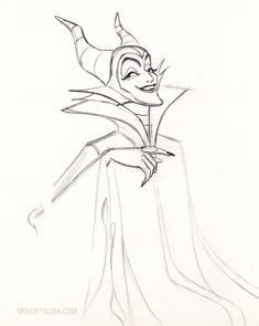 Maleficent The Art of Marc Davis*, one of the Disney's Nine Old Men ★ || Art of Walt Disney Animation Studios © - Website | (www.disneyanimation.com) • Please support the artists and studios featured here by buying this and other artworks in the official online stores (www.disneystore.com) • Find more artists at www.facebook.com/CharacterDesignReferences and www.pinterest.com/characterdesigh || ★