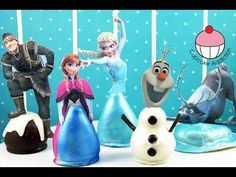 FROZEN CAKE POPS! All the Disney FROZEN Characters.. As Cake! A Cupcake Addiction How To Tutorial - YouTube
