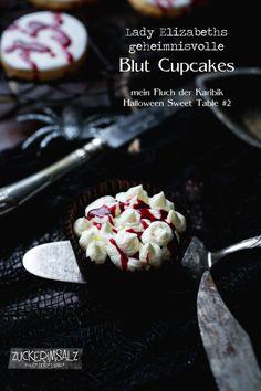 schaurig blutige geheimnisvolle Blut Cupcakes - mein Halloween Sweet Table Teil 2
