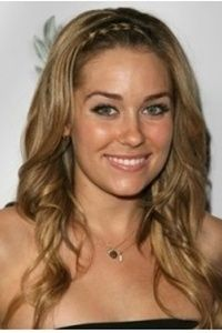 lauren conrad braided bangs hairstyle. possibly a French dutch braid