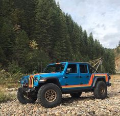 What's your thoughts on this Jeep Gladiator build? I'm a fan of it. Lifted 2020 Jeep Gladiator Tow Jeep with old school Scrambler wrap. Jeep Jt, Jeep Gear, Jeep Truck, Chevy Trucks, 2011 Jeep Wrangler, Jeep Wrangler Unlimited, Wrangler Rubicon, Blue Jeep, Jeep Brand