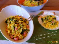 Riso freddo con zucchina genovese  #ricette #food #recipes