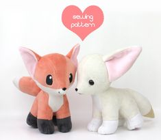 Free Vulpix plushie pieces pattern & tutorial: www.teacuplion.com/free-plushi… Fox plushie base pattern: www.etsy.com/listing/242911504… Learn how to sew plush with my free plushi...