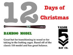 #12DaysOfChristmas #UniqueBats #CustomBats #Baseball #BaseballBats #BambooBats #110