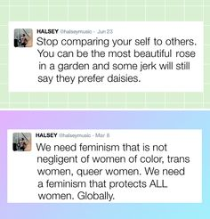 halsey is a queen Quotes Thoughts, Life Quotes Love, Amy Poehler, Mantra, Intersectional Feminism, Pro Choice, Patriarchy, Halsey, Lol