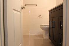 "Molka 2 drawer Cabinet w/Quartz counter : Shaker Design Wall Tile - 9""x 18"" Parfu Blanco  Floor Tile -  12"" x 24"" Clay Polished"