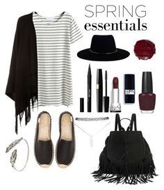 """""""Spring essentials """" by ainteranne ❤ liked on Polyvore featuring Soludos, Accessorize, Wet Seal, Zimmermann, Stila and OPI"""