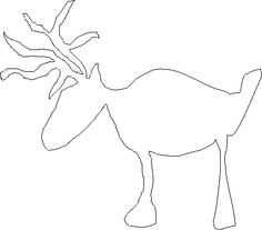 Free Christmas Stencils: Free Christmas Stencil: Reindeer