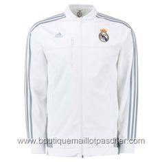 2016 2017 Real Madrid Adidas Anthem Jacket (White)