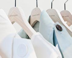 sophie gass - embossed wooden coat hangers