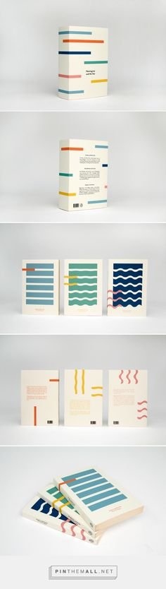 Favourite author and colour combo - it doesn't get much better than this delicious collectors box. Hemingway and the Sea on Behance by Kajsa Klaesén curated by Packaging Diva PD. Collectors box packaging and covers for three novels by Ernest Hemingway. Layout Design, Graphisches Design, Buch Design, Design Ideas, Line Design, Packaging Box, Print Packaging, Packaging Design, Clever Packaging