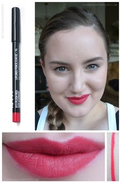 Daily Swatch: NYX Slim Lip Pencil via pinterest.com/radiancereport/  -- (click image for color/product details) #bbloggers #NYX