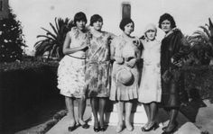 This group of Mexican American flappers are standing in a park somewhere in Southern California. The only woman identified is Lucinda Ordonez, who& standing second from the right. The photograph was taken in Credit: Los Angeles Public Library