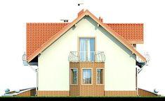 Elewacja DN Karmelita CE Small House Plans, Beautiful Homes, Gazebo, Outdoor Structures, House Design, House Styles, Big Thing, Polish, Home Decor