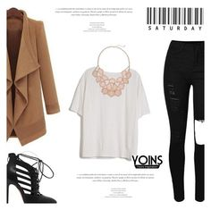 """Yoins #57 (http://yoins.me/1PrM4be)"" by antemore-765 ❤ liked on Polyvore featuring Fine Collection, women's clothing, women, female, woman, misses and juniors"