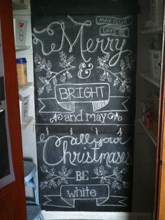Kitchen Chalkboard // Calculating Blessings