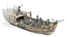 Artist's reconstruction of caravel hull