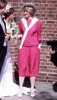 Diana attends wedding of friend, Carolyn Pride.