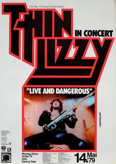 Thin Lizzy Concert Poster https://www.facebook.com/FromTheWaybackMachine/