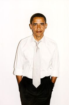 Barack Obama--it looks kind of like a mug-shot, but who gives a damn about that !