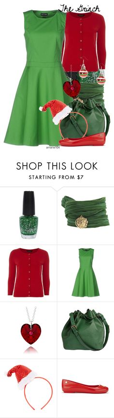 """The Grinch"" by amarie104 ❤ liked on Polyvore featuring OPI, Catherine Michiels, Dorothy Perkins, Louis Vuitton, claire's and Vivienne Westwood Anglomania + Melissa"