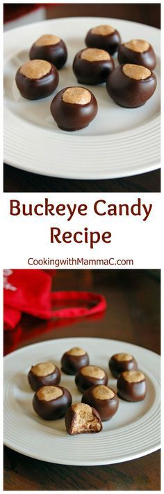 Buckeye Candy Recipe - Peanut butter balls dipped in chocolate! An Ohio tradition and huge favorite that's gluten free.
