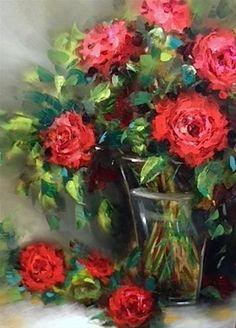"""""""Stars Reach Red Roses""""  - by Nancy Medina"""
