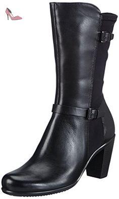 Soft 2.0, Derby Femme,Fermeture Velcro - Noir (Black with Black SOLE56723), 37 EUEcco