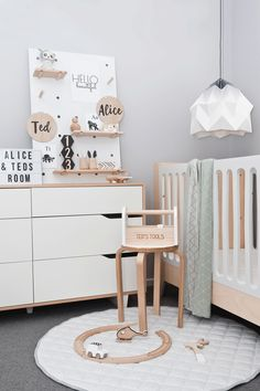 A shared boy nursery and girl's toddlers room - Kids Interiors