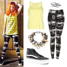 Hayley Williams: Aztec Print Leggings Outfit