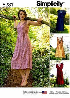 Simplicity 8231 Pullover Dress Pattern Midi Dress Pattern Casual Dress by blue510