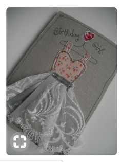 Girl who knits love – embroidery hoop art textile art fiber art – Embroidery illustration girl knitting – hand embroidery contemporary art Fabric Cards, Fabric Postcards, Paper Cards, Diy Cards, Embroidery Cards, Free Motion Embroidery, Embroidery Ideas, Freehand Machine Embroidery, Free Machine Embroidery