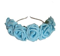 ♥♥♥Elegant Baby Blue Jumbo Pastel Foamie Rose Crown♥♥♥ ♥High quality Pastel colored Foamie Roses♥ ♥Silver headband ♥ Perfect for Raves and Festivals or for everyday wear ♥ Halos are sent priority mail in the USA ♦ ♣ ♠ ♥ Hand made in Vegas Baby ♦ ♣ ♠ ♥ Please feel free to message me