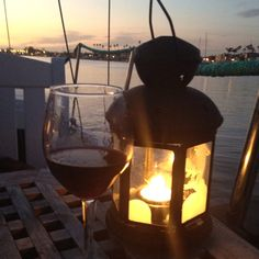 Wine and sailing. Happy Valentines Day