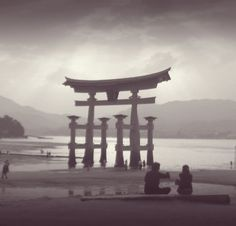 Itsukushima (Miyajima) - Torii, Japan