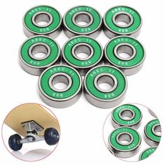 New 8Pcs 608 ABEC-11 Skate Roller Inline Scooter Bearing Chrome Steel Shields Skating Bearings For Scooter Parts Random Color