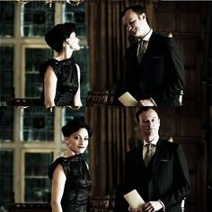 Irene and Mycroft. These shots make them look like friends. oh how the truth is much different.