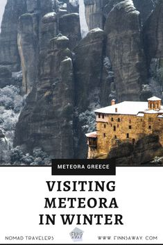 Traveling in Greece: Add Meteora with towering rock formations, cliff-top monasteries and hiking trails to your itinerary! It's fantastic any time of the year, also in winter! Travel Around The World, Around The Worlds, Winter Hiking, Time Of The Year, Greece Travel, Hiking Trails, Travel Destinations, Tower, Rock Formations