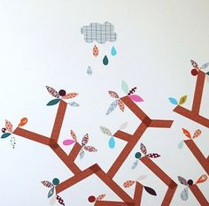 Wall art decor made with Washi tape.