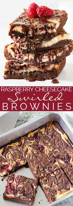 Raspberry Cheesecake Brownies ~ Rich, fudgy brownies are topped with a creamy cheesecake layer that's been swirled with sweet raspberry jam. The best cheesecake brownies! Best Cheesecake, Cheesecake Brownies, Raspberry Cheesecake, Brownie Cake, Fudgy Brownies, Cheesecake Recipes, Raspberry Brownies, Homemade Desserts, Best Dessert Recipes