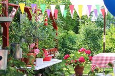 Pikkutalon elämää: Puutarhajuhlat