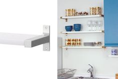 8 IKEA-hacks you can't miss - Roomly. Ikea Shelves, Ikea Hackers, Gold Bathroom, Find Furniture, Wall Storage, Tiny Living, Frames On Wall, Feng Shui, Home Interior Design