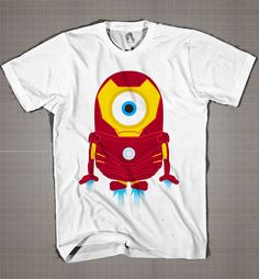 IRONMAN MINION FLY  Mens and Women T-Shirt Available Color Black And White