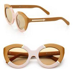 5b622ee69e KAREN WALKER Flowerpatch 50mm modified cat s-eye sunglasses Designer  Shades