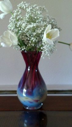 Glass blowing take 2. I made this vase :)