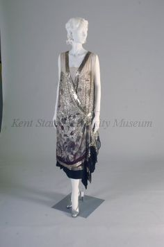 Evening dress by Lanvin, 1925-28 France, Kent State