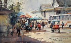 Artimañas: DIREK KINGNOK - Acuarelista de Thai (Tailandia) -Watercolors
