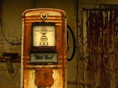 Old Petrol Pumps at Kaplan Gas Station, New Orleans, Louisiana, USA Photographic Print