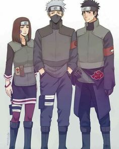 Team Minato grown-up: Kakashi, Obito, Rin ♥♥♥ So sad to know that it will never happen ♥