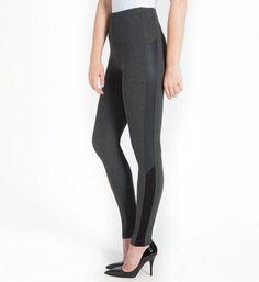 426696f048 Lysse Leggings 1489 Kiara Suede Inset Shaping Legging (Charcoal L)
